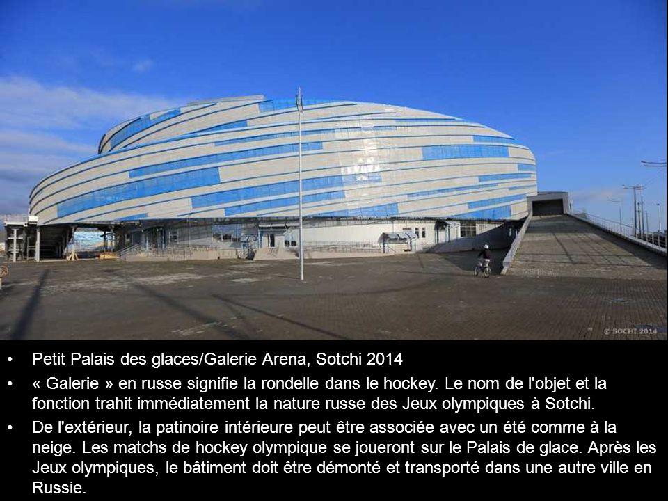 Petit Palais des glaces/Galerie Arena, Sotchi 2014