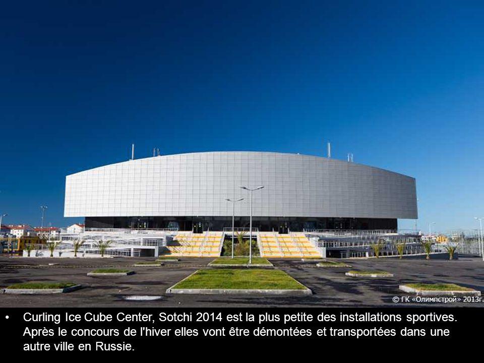 Curling Ice Cube Center, Sotchi 2014 est la plus petite des installations sportives.