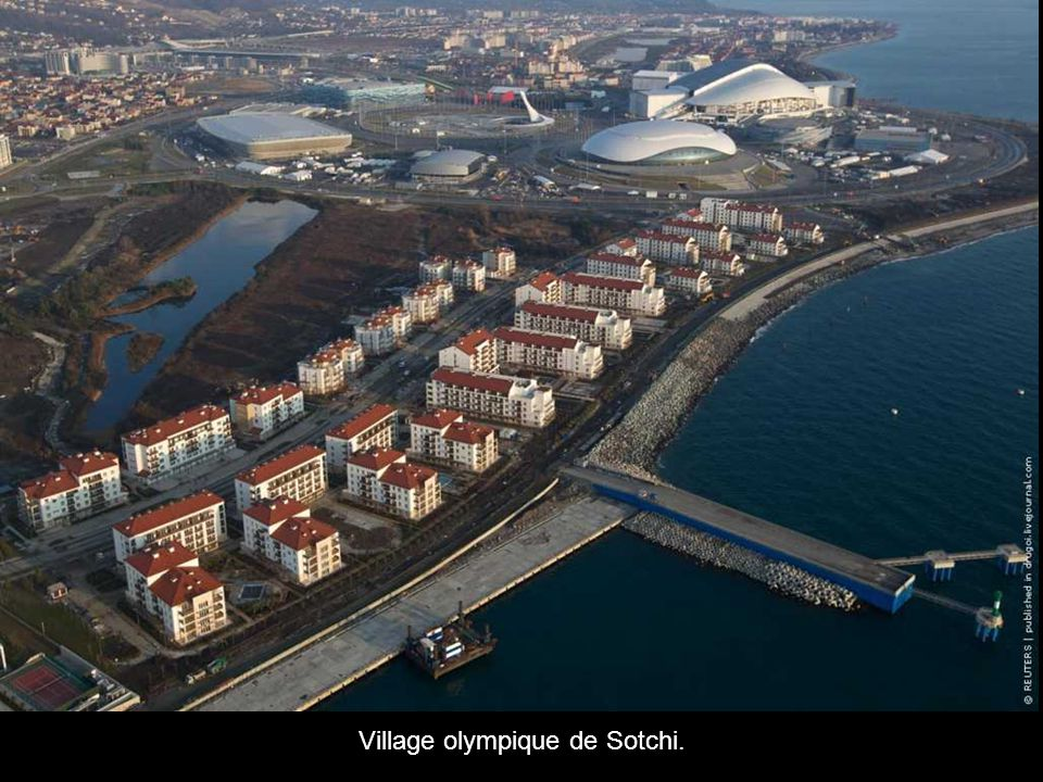 Village olympique de Sotchi.