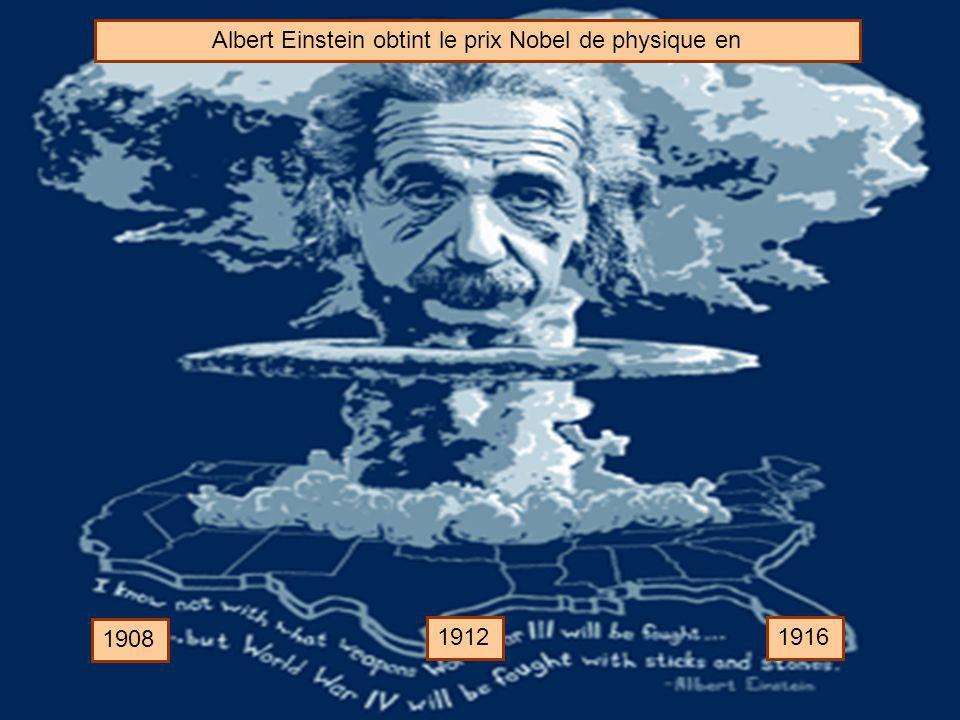 Albert Einstein obtint le prix Nobel de physique en