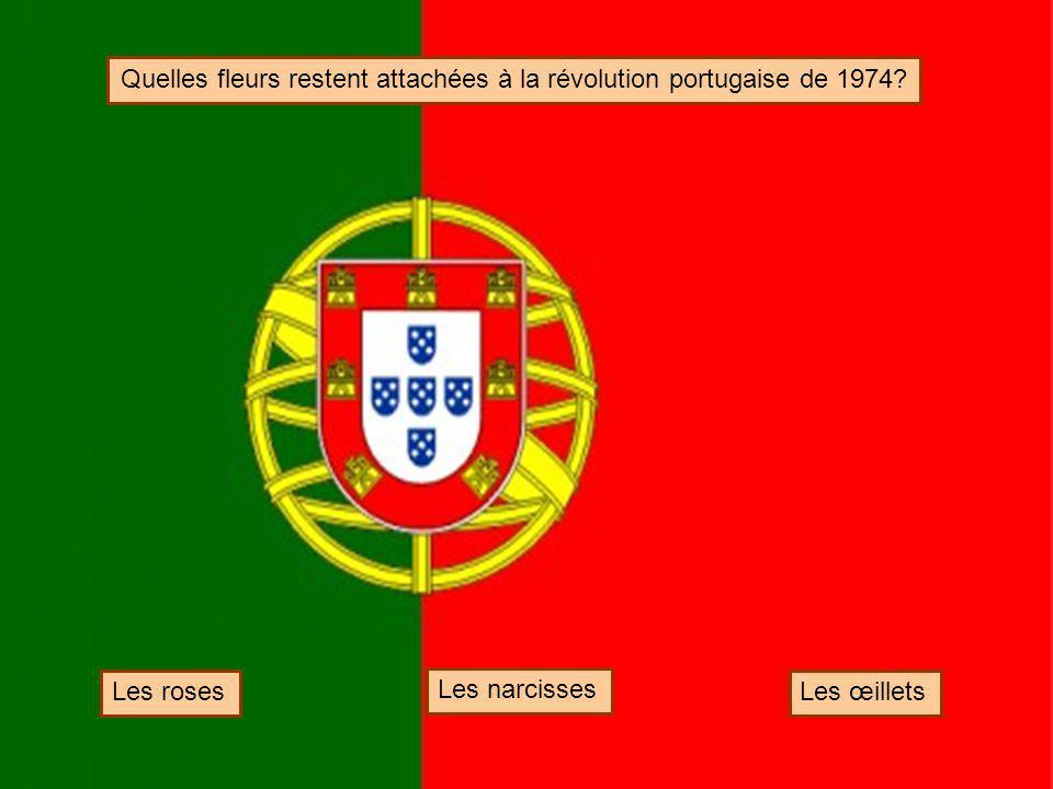 Quelles fleurs restent attachées à la révolution portugaise de 1974
