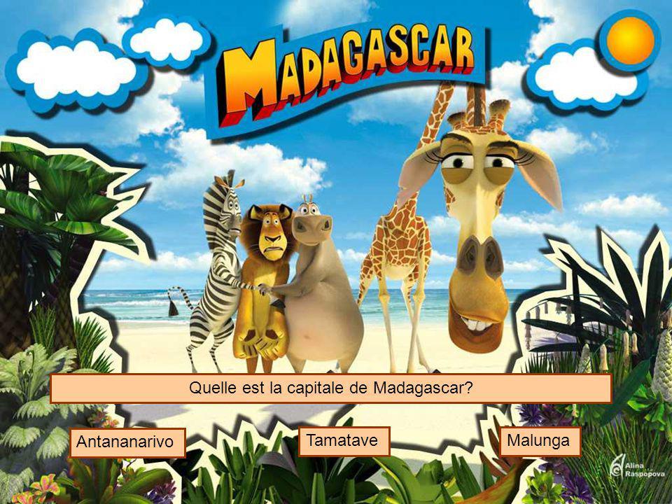 Quelle est la capitale de Madagascar