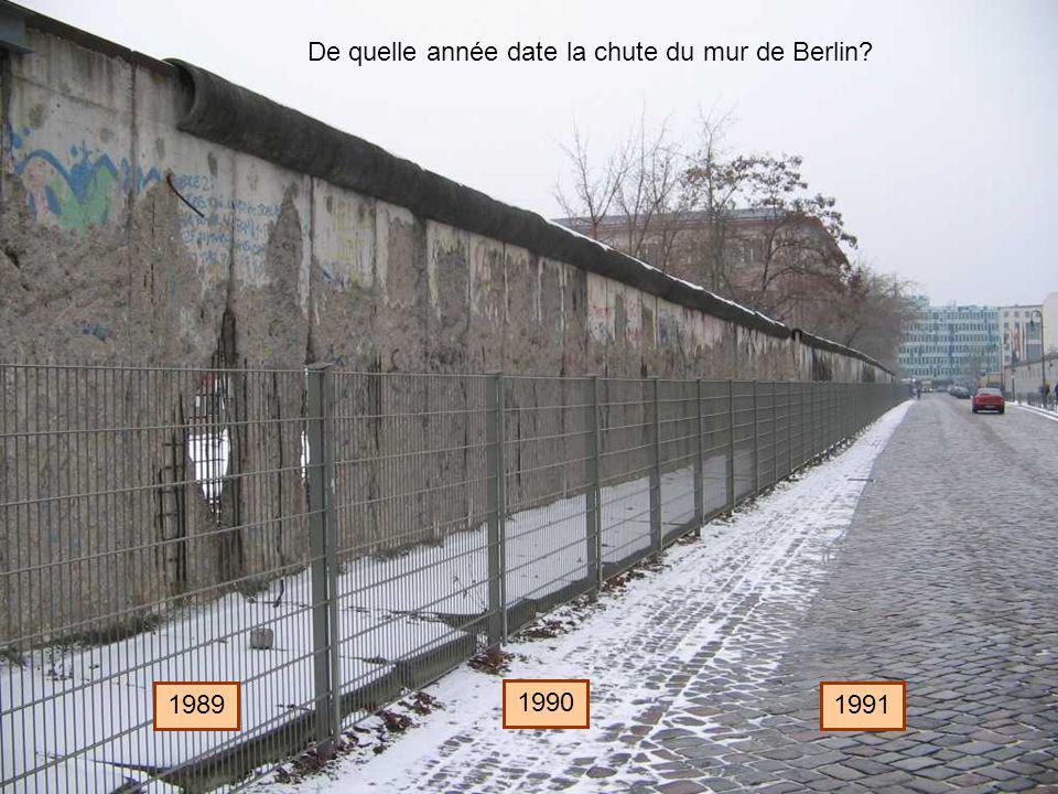 De quelle année date la chute du mur de Berlin