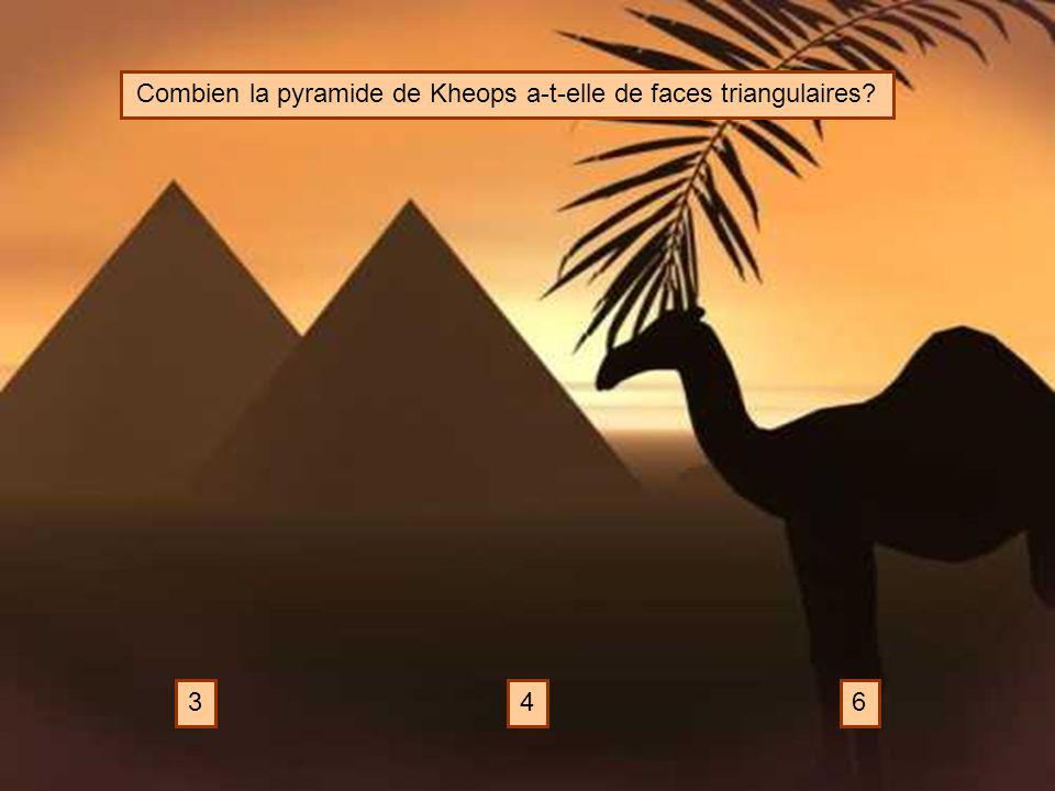 Combien la pyramide de Kheops a-t-elle de faces triangulaires