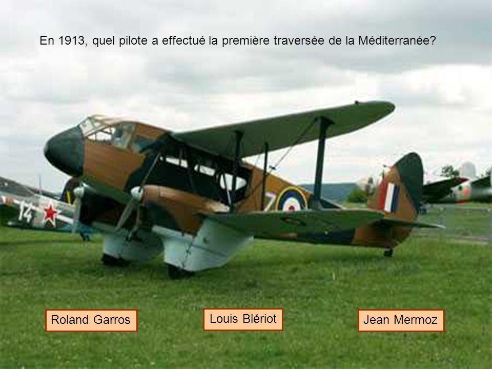 En 1913, quel pilote a effectué la première traversée de la Méditerranée