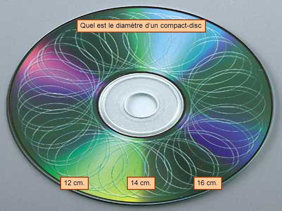 Quel est le diamètre d'un compact-disc
