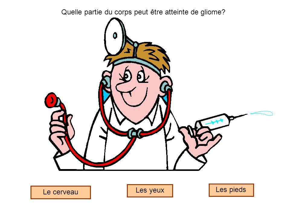 Quelle partie du corps peut être atteinte de gliome