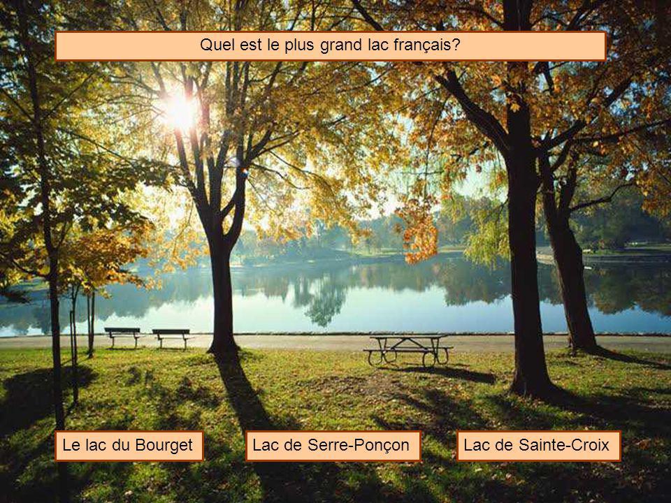 Quel est le plus grand lac français