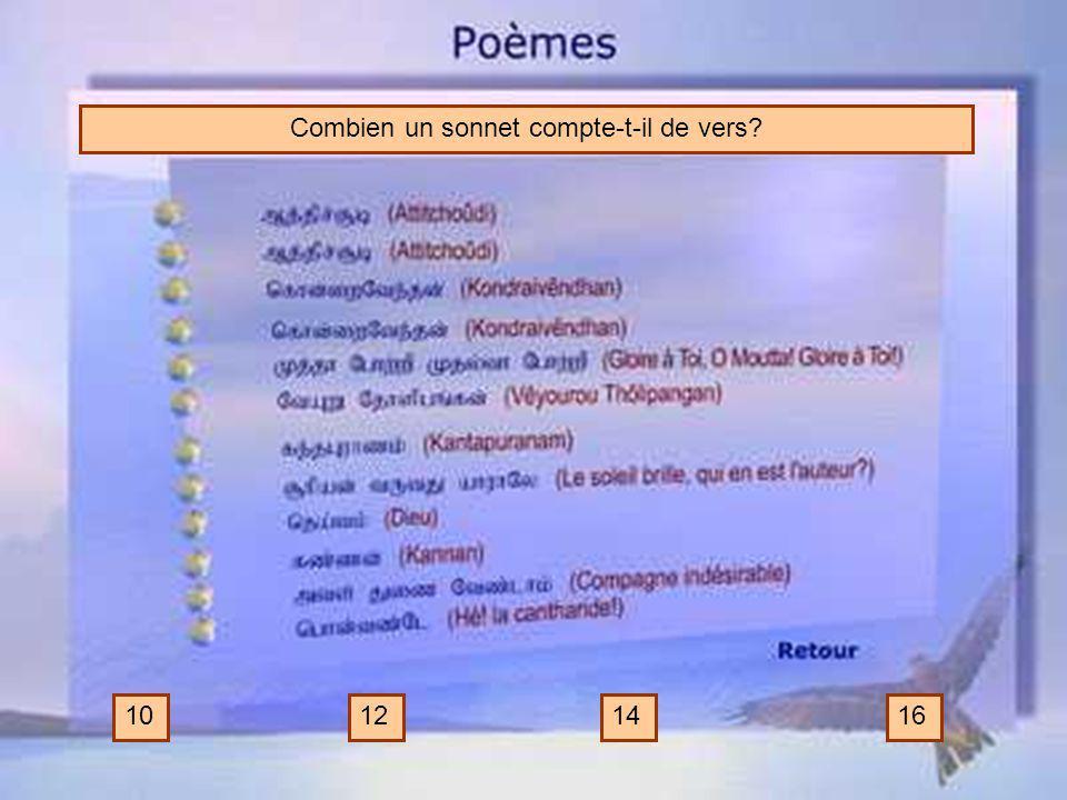 Combien un sonnet compte-t-il de vers
