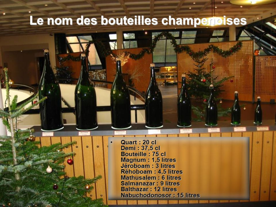 Le nom des bouteilles champenoises
