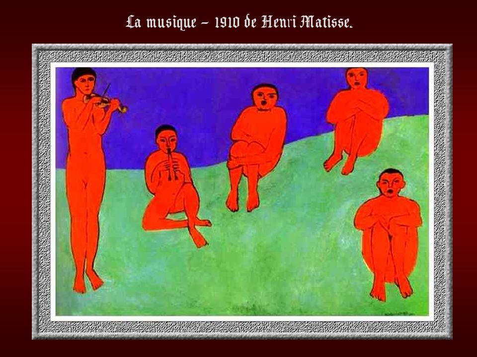 La musique – 1910 de Henri Matisse.