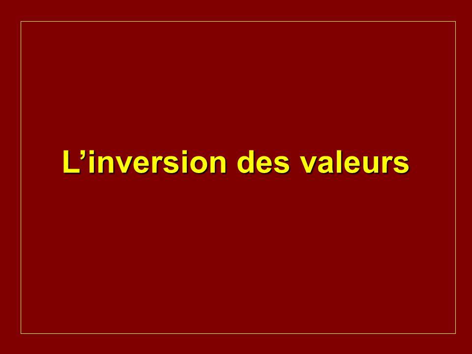 L'inversion des valeurs