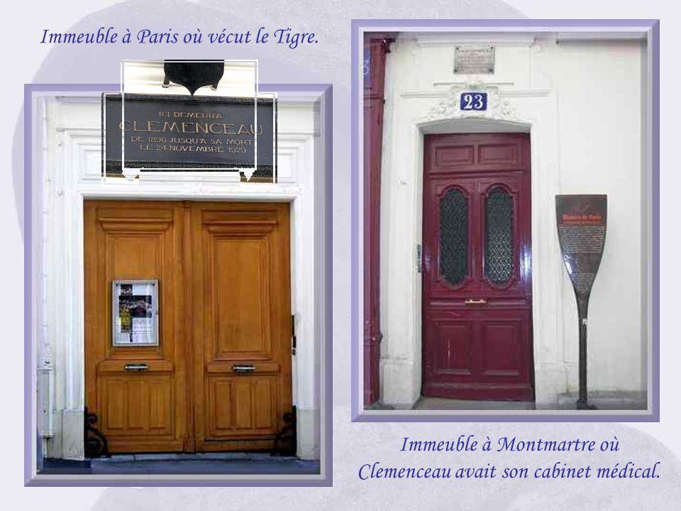 Immeuble à Paris où vécut le Tigre.
