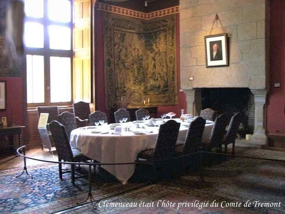 Clemenceau était l'hôte privilégié du Comte de Tremont