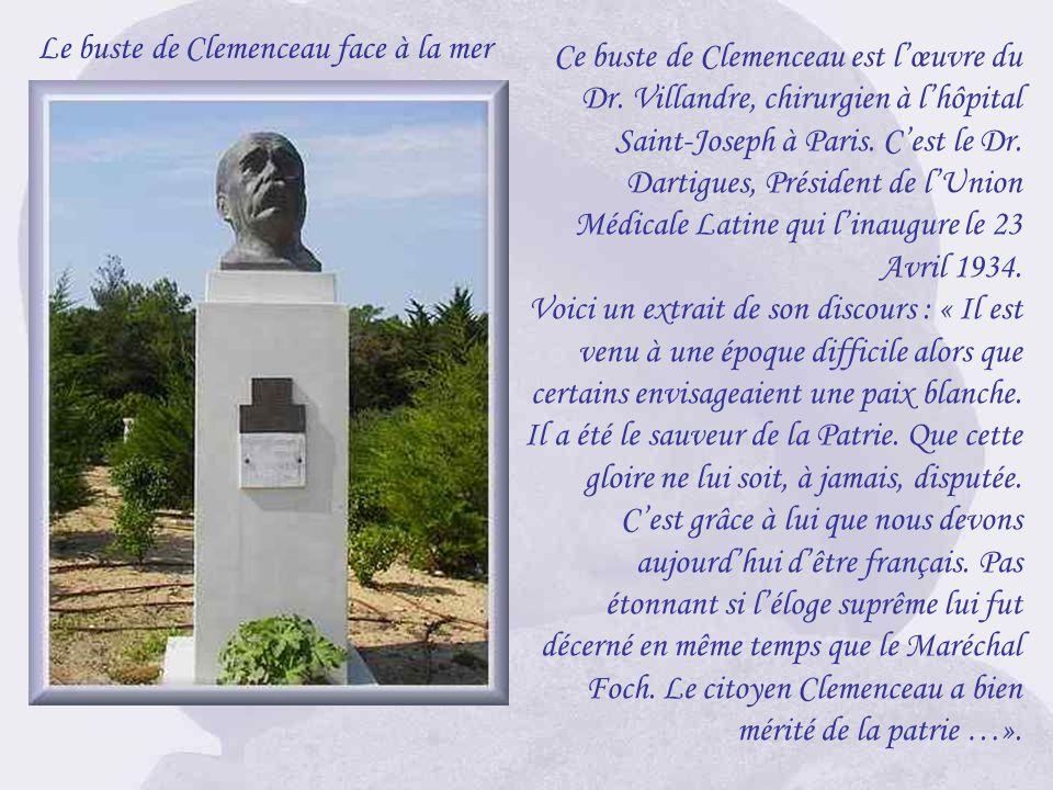 Le buste de Clemenceau face à la mer