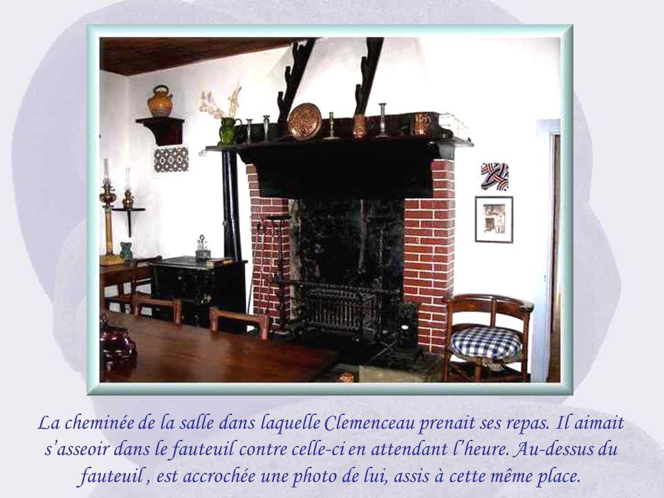 La cheminée de la salle dans laquelle Clemenceau prenait ses repas