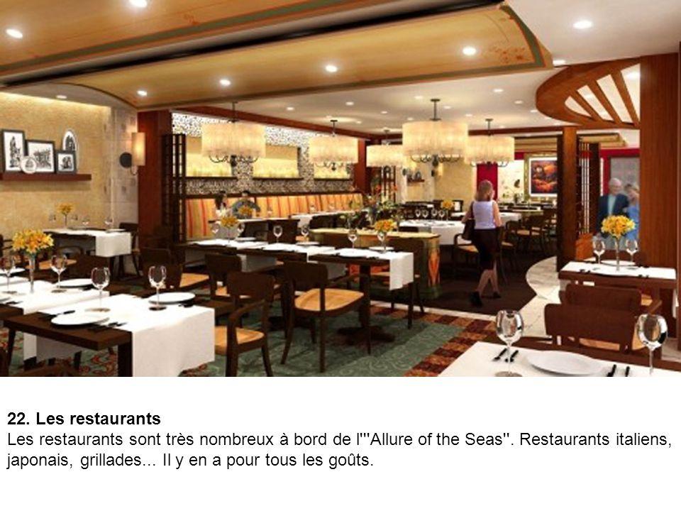 22. Les restaurants