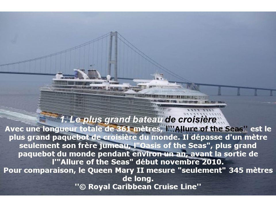1. Le plus grand bateau de croisière