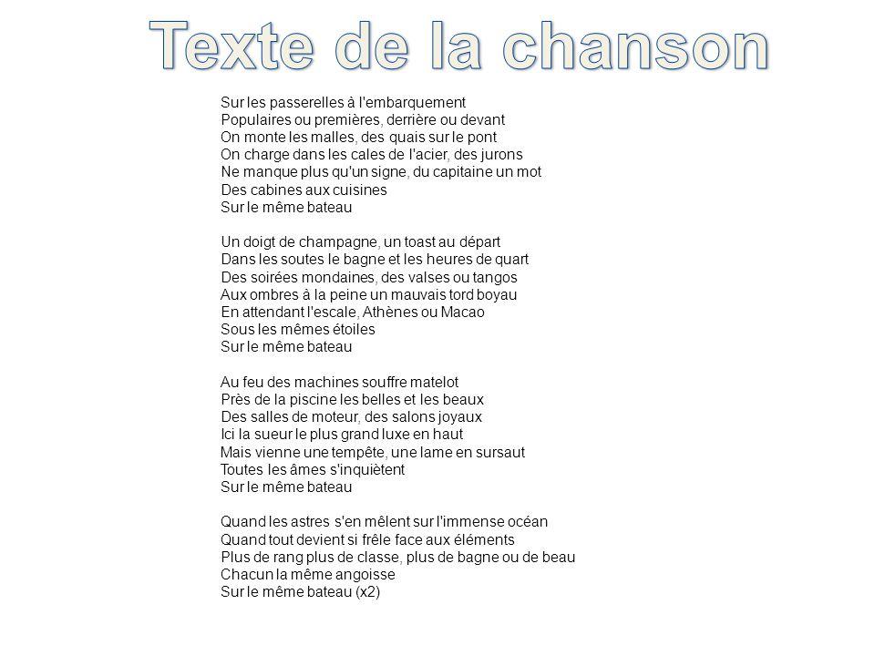 Texte de la chanson