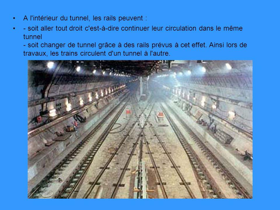 A l intérieur du tunnel, les rails peuvent :