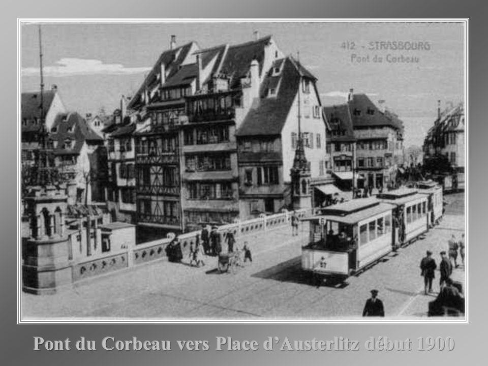 Pont du Corbeau vers Place d'Austerlitz début 1900