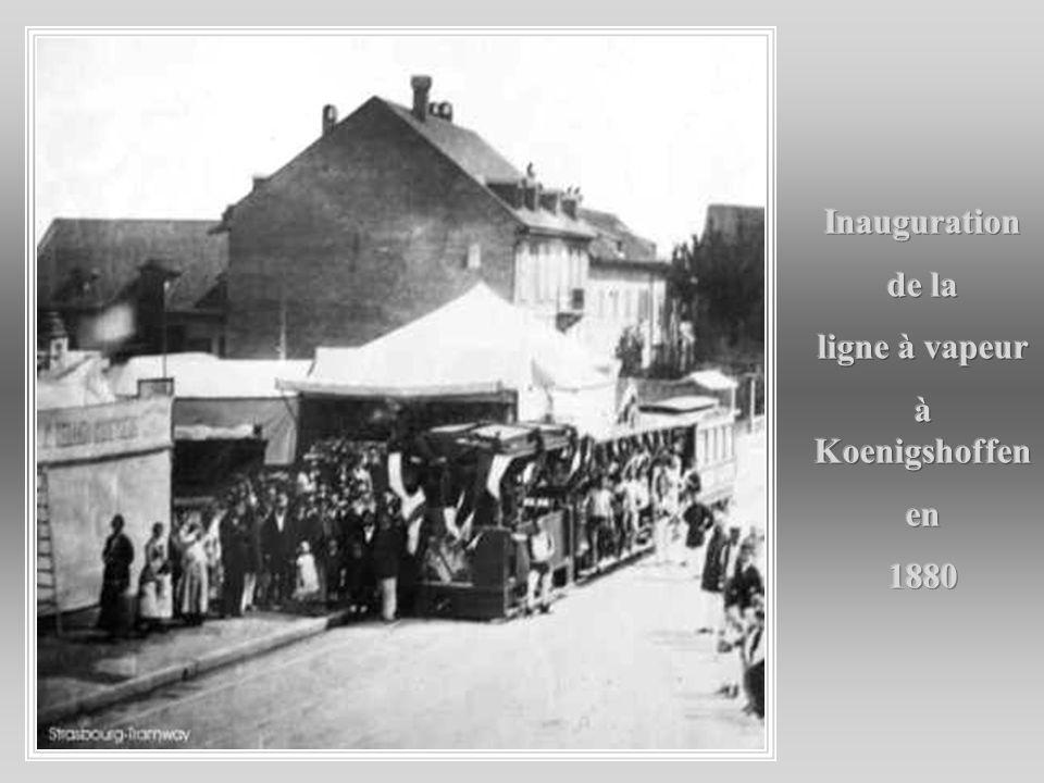 Inauguration de la ligne à vapeur à Koenigshoffen en 1880