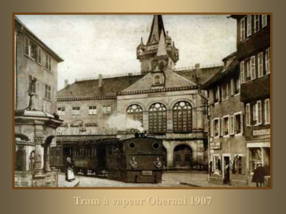 Tram à vapeur Obernai 1907