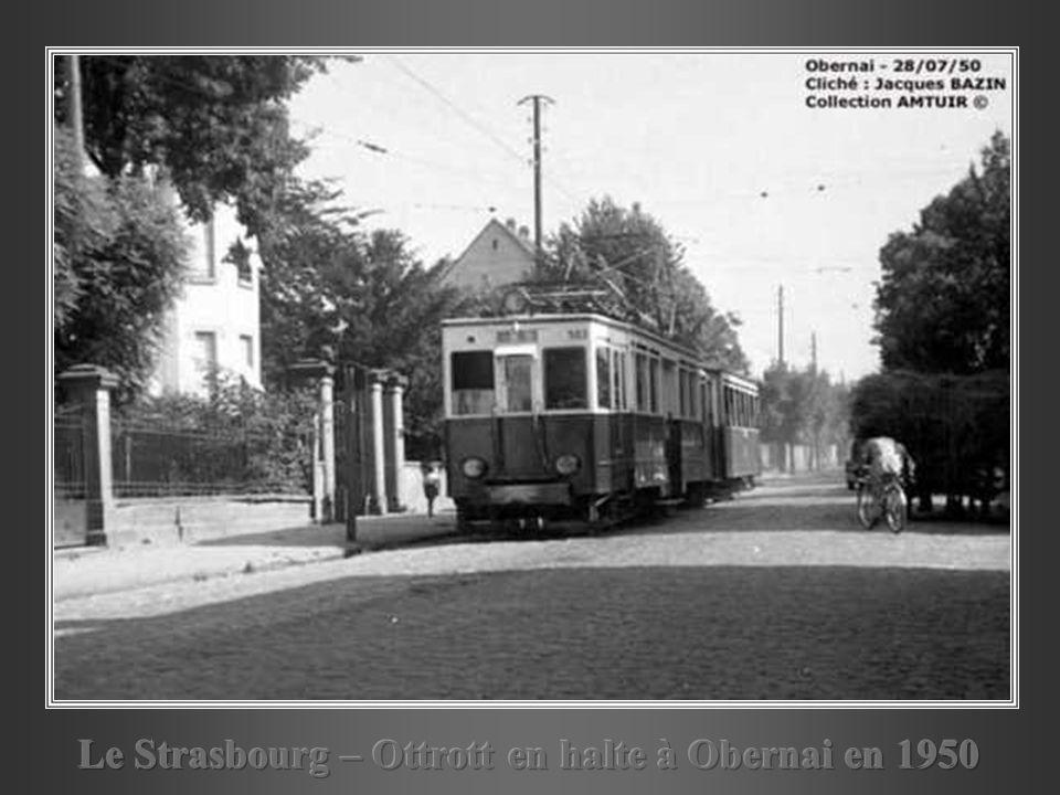 Le Strasbourg – Ottrott en halte à Obernai en 1950