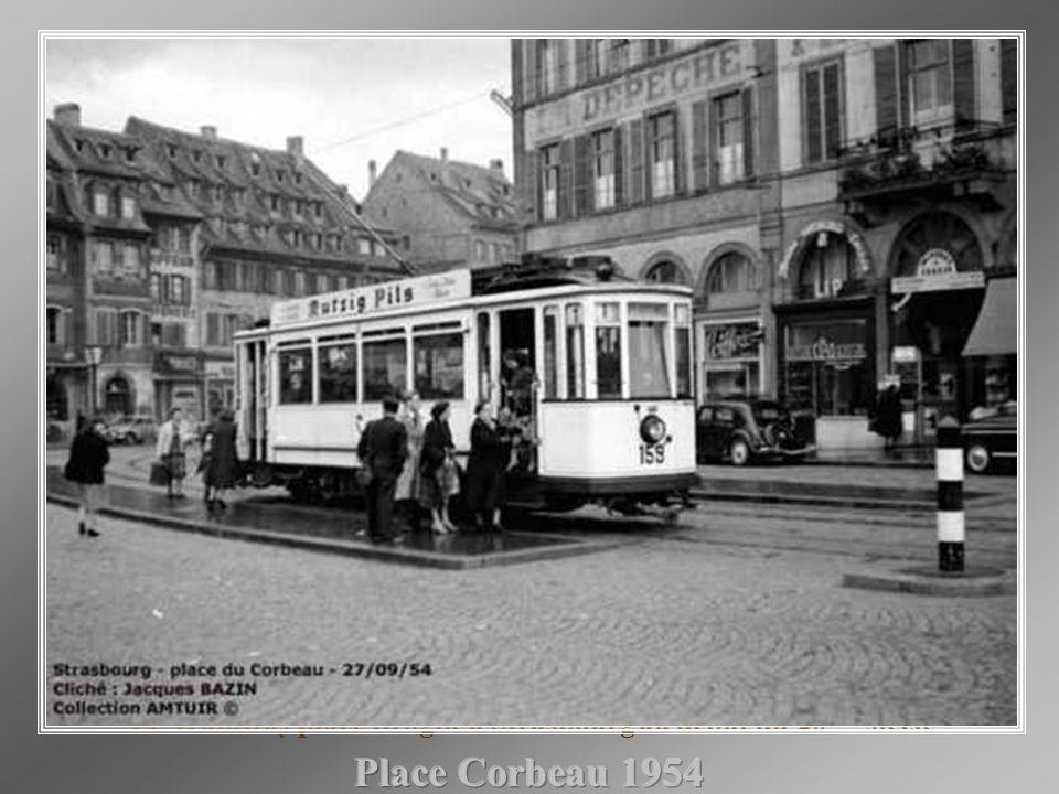 Le Tramway place Broglie à Strasbourg au début du 20ème siècle