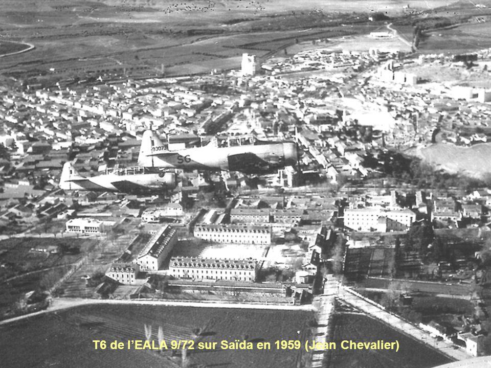 T6 de l'EALA 9/72 sur Saïda en 1959 (Jean Chevalier)