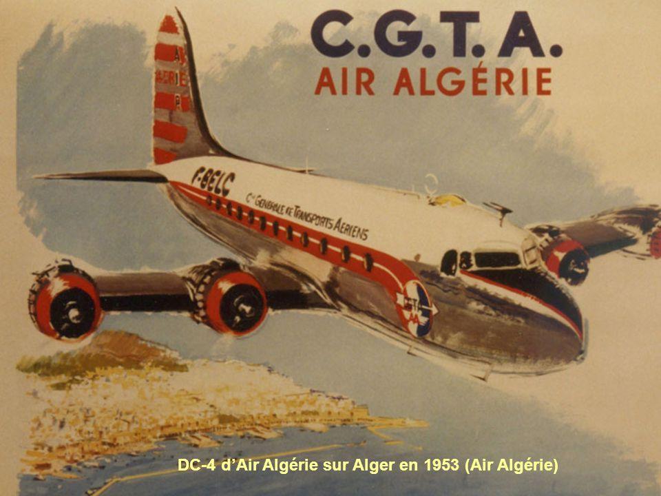 DC-4 d'Air Algérie sur Alger en 1953 (Air Algérie)