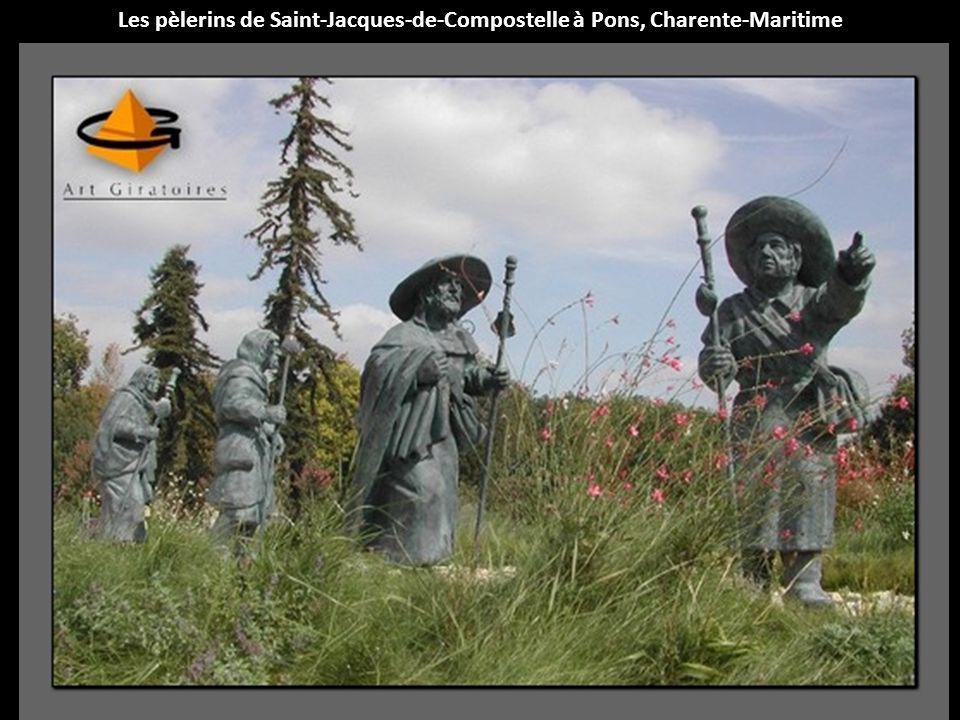 Les pèlerins de Saint-Jacques-de-Compostelle à Pons, Charente-Maritime