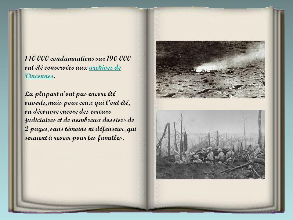 140 000 condamnations sur 190 000 ont été conservées aux archives de Vincennes.