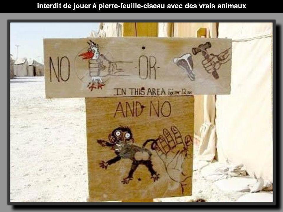interdit de jouer à pierre-feuille-ciseau avec des vrais animaux