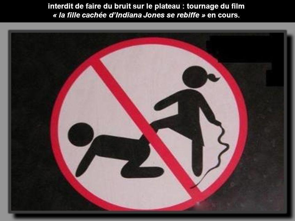 interdit de faire du bruit sur le plateau : tournage du film