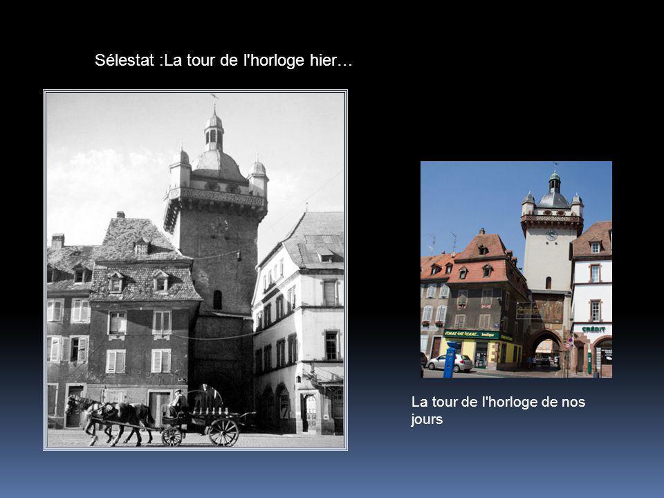 Sélestat :La tour de l horloge hier…