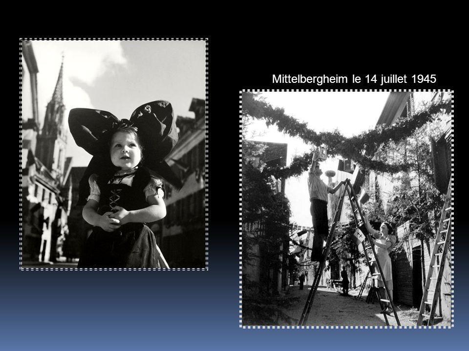 Mittelbergheim le 14 juillet 1945