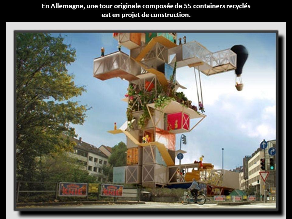 En Allemagne, une tour originale composée de 55 containers recyclés