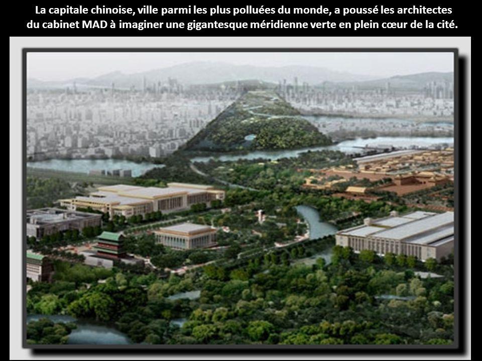 La capitale chinoise, ville parmi les plus polluées du monde, a poussé les architectes