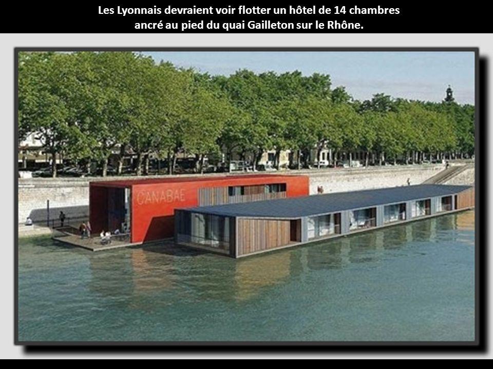 Les Lyonnais devraient voir flotter un hôtel de 14 chambres