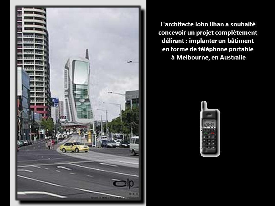 en forme de téléphone portable à Melbourne, en Australie