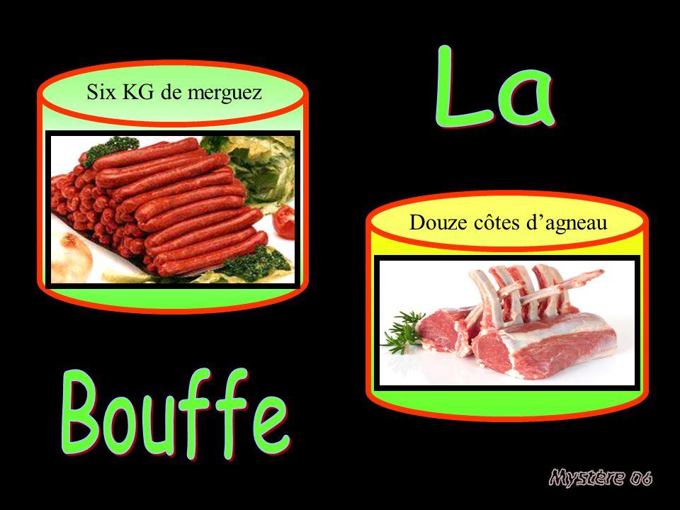 La Six KG de merguez Douze côtes d'agneau Bouffe