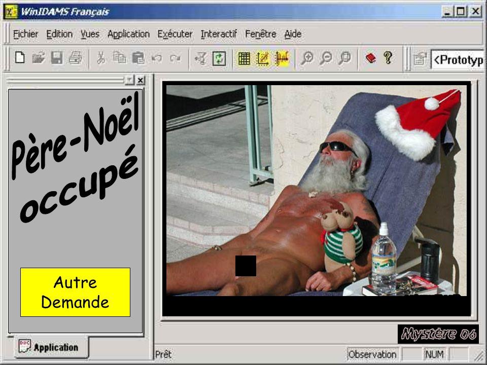 Père-Noël occupé Autre Demande