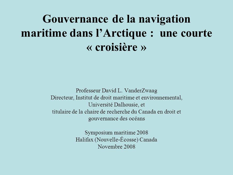 Gouvernance de la navigation maritime dans l'Arctique : une courte « croisière »
