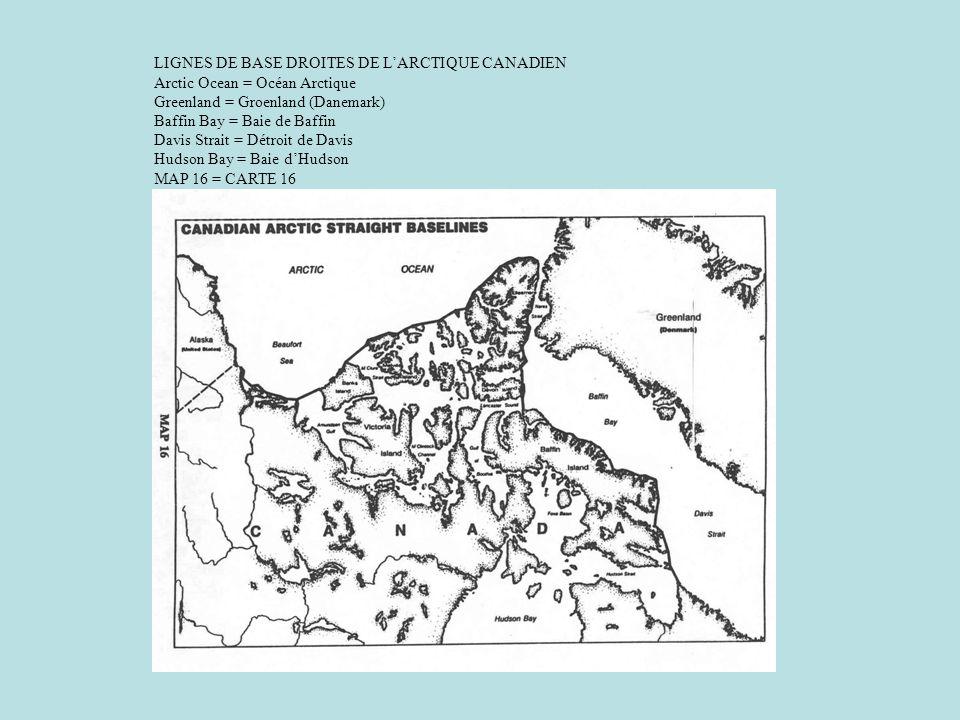 LIGNES DE BASE DROITES DE L'ARCTIQUE CANADIEN