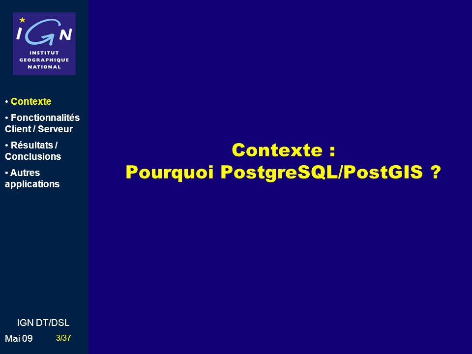 Contexte : Pourquoi PostgreSQL/PostGIS