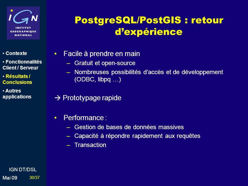 PostgreSQL/PostGIS : retour d'expérience