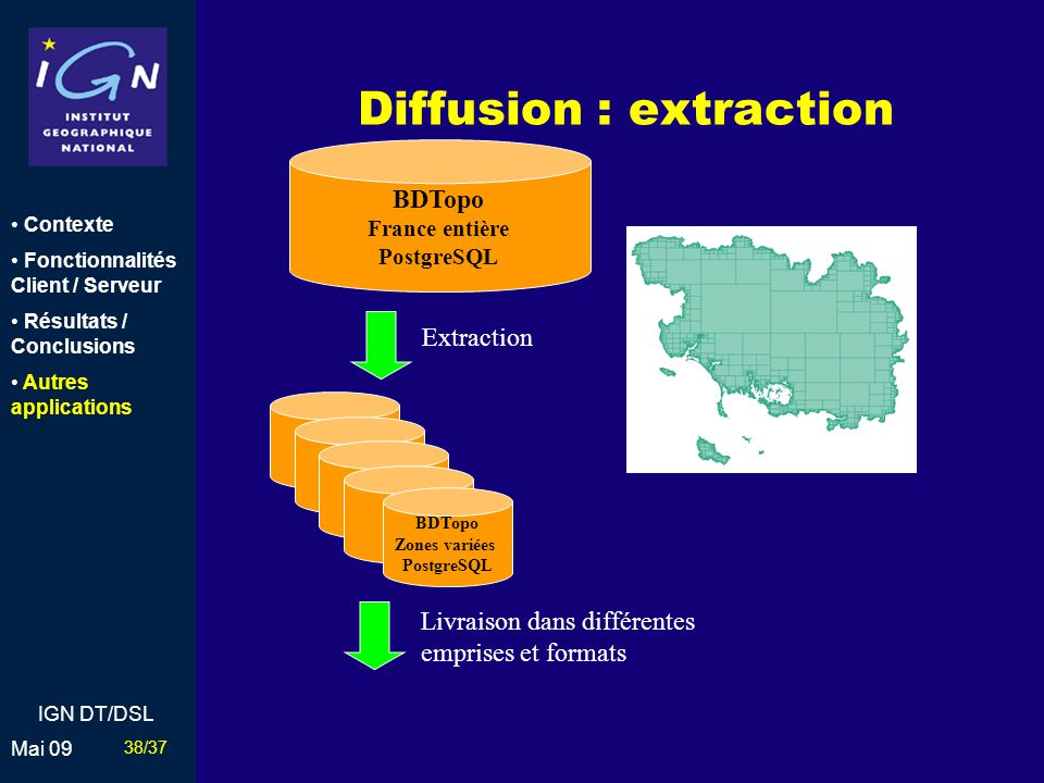 Diffusion : extraction
