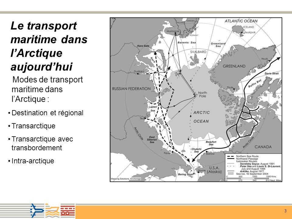 Le transport maritime dans l'Arctique aujourd'hui