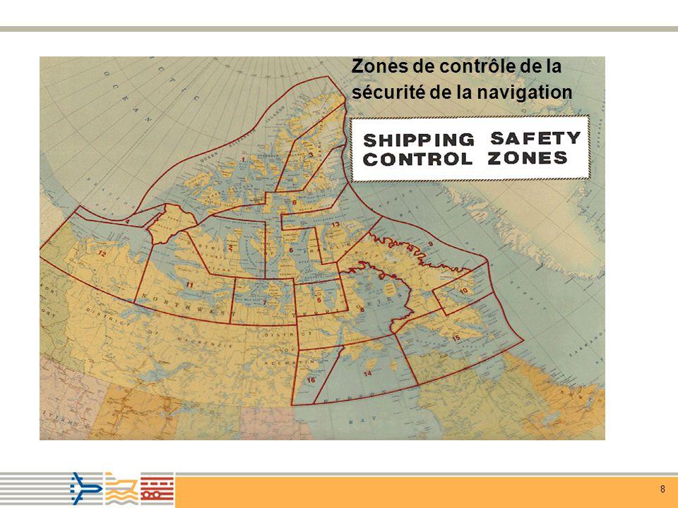 Zones de contrôle de la sécurité de la navigation